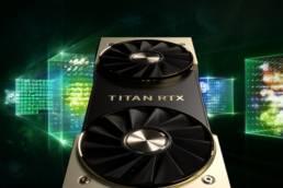 Titan RTX graphics card close-up.