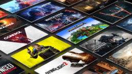A grid of game titles that are compatible with NVIDIA RTX technology